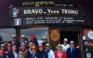 remise des prix ball trap Megève coupe aallard aout 2014