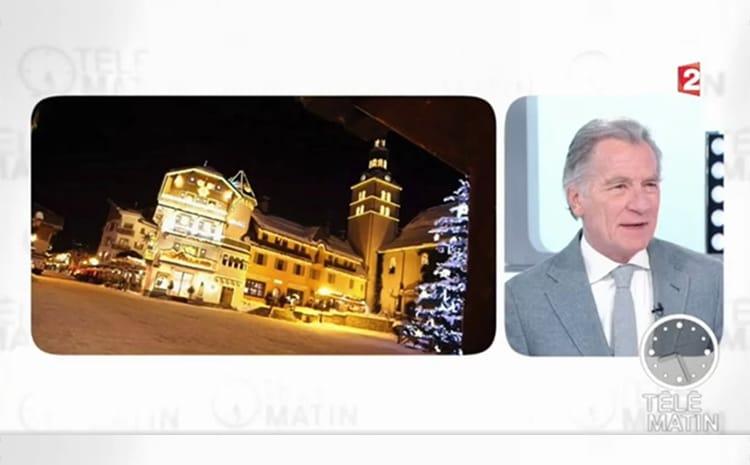 France2 telematin reportage AALLARD Megeve william Leymergie place de l'église